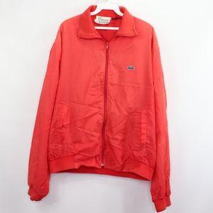Vintage 80s Izod Lacoste Mens XL Bomber Jacket Red